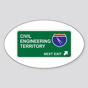 Civil, Engineering Territory Oval Sticker